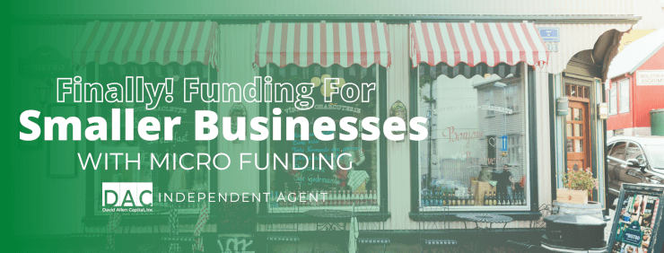 Get funding for small businesses.